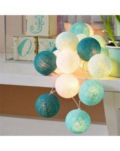 COTTON BALLS Kule świecące LED Girlanda na baterie + Lampki 20x LED MILAGRO EKD786