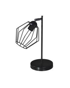 Nowoczesna lampa biurkowa stołowa nocna czarna do sypialni 1 x E27