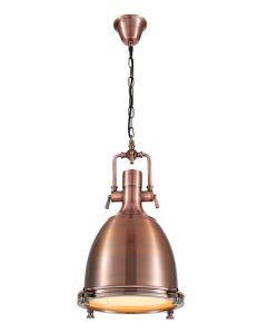 Lampa wisząca sufitowa w stylu loft miedziana E27 Volteno Copper Glob
