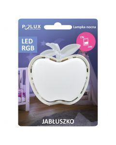 Lampka do gniazdka lampka nocna JABŁKO LED biała  0,4W POLUX