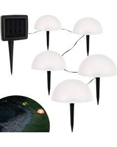 Lampa Ogrodowa SOLARNA LED Dekoracyjne Półkule 0,24W RGB