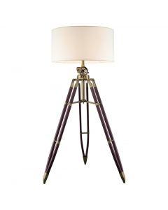Lampa PODŁOGOWA stojąca trójnóg z abażurem E27 czerwone drewno 210cm Volteno Dream 2
