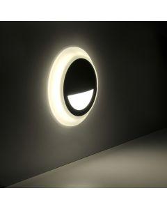 Lampa oprawa schodowa podtynkowa LED ogrodowa 3W 40lm IP44 4000K czarna Q4 Polux