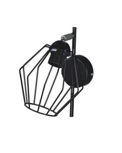 Nowoczesna lampa ścienna czarna kinkiet do sypialni 1 x E27