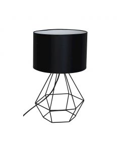 Lampa stołowa biurkowa w stylu industrialnym czarna druciana MiLAGRO Alma 1x E27