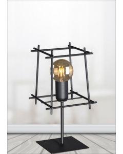 Nowoczesna lampa stołowa biurkowa nocna czarna minimalistyczna do sypialni 1x E27