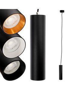 Lampa wisząca GU10 LED CIRCUS 29 cm Czarna + Pierścień Czarny