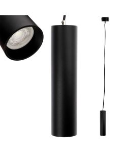 Lampa wisząca GU10 LED CIRCUS 24 cm Czarna + Pierścień Czarny