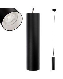 Lampa wisząca GU10 LED CIRCUS 24 cm Czarna + Pierścień Biały