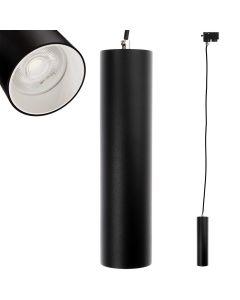 Lampa szynowa wisząca GU10 LED TRACTUS 24 cm + Pierścień Biały