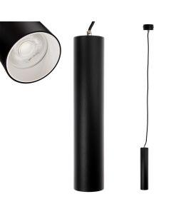 Lampa wisząca GU10 LED CIRCUS 29 cm Czarna + Pierścień Biały