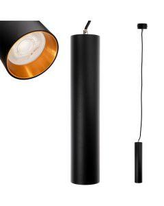 Lampa szynowa wisząca GU10 LED TRACTUS 29 cm + Pierścień Złoty