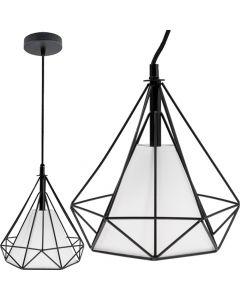 Lampa wisząca sufitowa geometryczna LOFT GEO S 1x E27 Czarna Druciana Styl industrialny