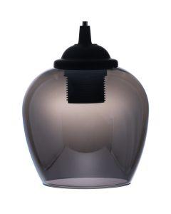 Lampa wisząca ZWIS ciemne szkło grafitowy do LED 1xE27 LUMILED