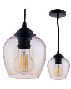 Lampa wisząca ZWIS szkło miodowe do LED 1xE27 LUMILED