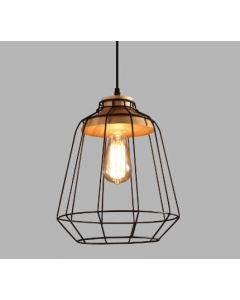 lampa sufitowa drewno metal