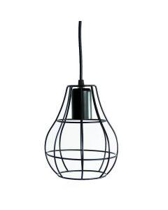 Lampa wisząca sufitowa druciana owalna loft industrial retro E27