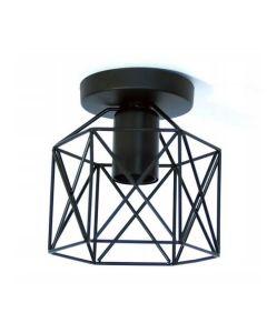 Lampa sufitowa wisząca metalowa oprawa czarna druciana Loft E27