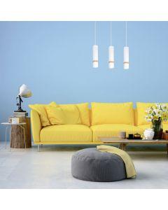 Lampa wisząca w stylu skandynawskim loft biała MiLAGRO VIDAR 3x GU10 Metal + drewno
