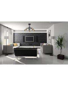 Nowoczesna lampa wisząca sufitowa żyrandol oprawa czarna minimalistyczna 5 x E27