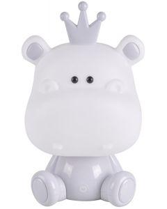 Lampka nocna dekoracyjna dziecięca HIPOPOTAM LED 2,5W ciepła szara POLUX lampka dla dzieci
