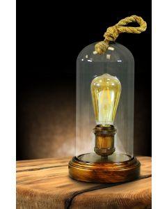 Lampa stołowa biurkowa E27 VARDE ROPE Polux Złota
