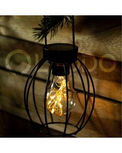 Lampa LATARENKA ogrodowa LED solarna żarówka wisząca druciana 10x dioda SMD