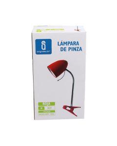 Lampka biurkowa E27 lampka szkolna na biurko z klipsem AIGOSTAR czerwona
