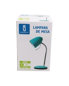 Lampka biurkowa E27 lampka szkolna na biurko metal AIGOSTAR niebieska
