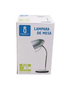 Lampka biurkowa E27 lampka szkolna na biurko metal AIGOSTAR srebrna