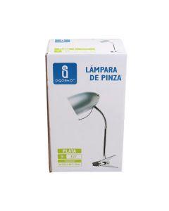 Lampka biurkowa E27 lampka szkolna na biurko z klipsem AIGOSTAR srebrna