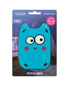 Lampka do gniazdka nocna POTWOREK LED zimna niebieska 0,4W POLUX lampka dla dzieci