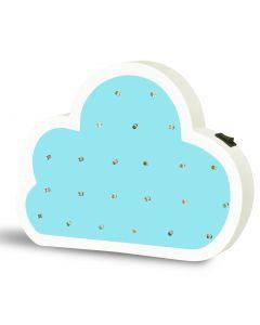 Lampka drewniana nocna dekoracyjna CHMURKA LED ciepła niebieska POLUX lampka dla dzieci