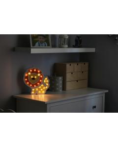Lampka drewniana nocna dekoracyjna LEW LED ciepła POLUX lampka dla dzieci