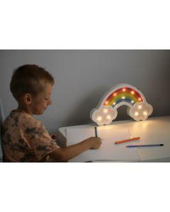 Lampka drewniana nocna dekoracyjna TĘCZA LED ciepła POLUX lampka dla dzieci
