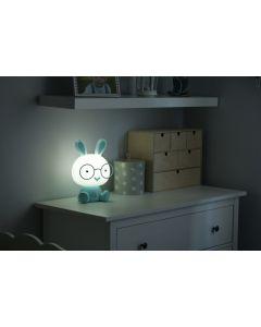 Lampka nocna dekoracyjna KRÓLIK LED 2,5W ciepła niebieska POLUX lampka dla dzieci