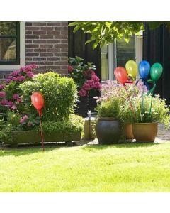 Zestaw 4x Lampa ogrodowa LED solarna BALONIKI wbijana zielona niebieska żółta czerwona Polux