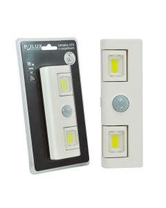 Lampka podszafkowa meblowa biała LED z czujnikiem 70lm 6000K Polux na baterie 3xAAA