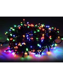 Lampki Choinkowe 100 LED Multikolor RGB 7,5M - ZEWNĘTRZNE przedłużalne
