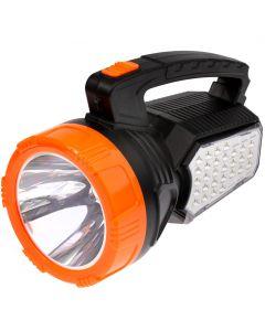 Latarka szperacz akumulatorowa solarna LED 1.6 W 170LM przód / 2.8W 860LM boczne LB0168 LIBOX
