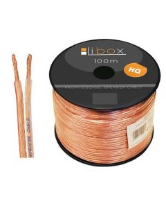 Kabel Przewód GŁOŚNIKOWY CCA 2x0,75mm HQ LB0006 LIBOX 1m