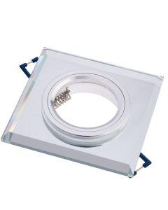 Oprawa halogenowa SZKLANA Sufitowa LED GU10 MR16 stała Ariel kwadratowa