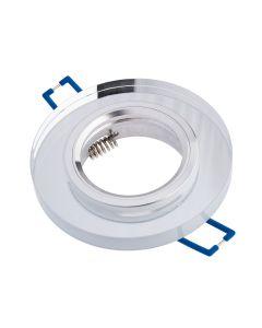 Oprawa halogenowa SZKLANA Sufitowa LED GU10 MR16 stała Okrągła Ariel przeźroczysta