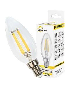 Żarówka LED ŚWIECZKA Filament E14 7W = 65W 770lm Ciepła 3000K 360° LUMILED