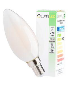 Żarówka LED E14 B35 7W = 60W 770lm 4000K Neutralna 360° Filament  LUMILED