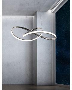 Lampa Wisząca Sufitowa Żyrandol LED LENS 42W 120cm - Polux