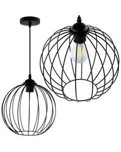 Lampa wisząca FILIS kula ZWIS druciana loft do LED 1x E27 LUMILED