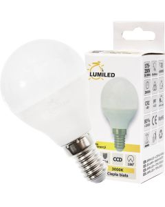 Żarówka LED KULKA E14 10W = 90W 990lm Ciepła 3000K 210° LUMILED