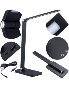 Lampka Biurkowa Nocna LED 7W 2700K-6000K CCT USB Ściemnialna Dotykowa