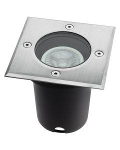 Lampa ogrodowa najazdowa gruntowa  LED GU10 Kwadratowa  IP66 IK09